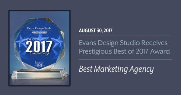2017 Best Marketing Agency Award Evans Design Studio