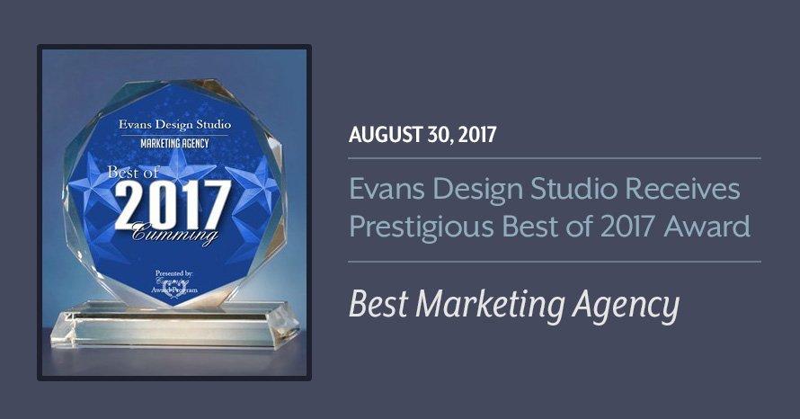 Evans Design Studio Receives 2017 Best Marketing Agency Award